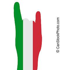 信号, 指, イタリア語