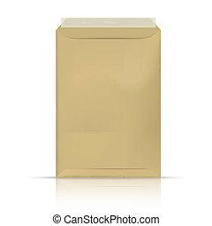 信封, 被隔离, 上, a, 白色 背景