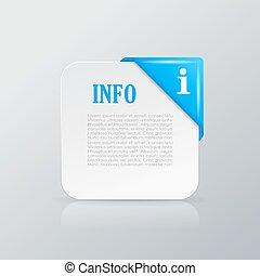 信息, 卡片, 由于, 角落, 帶子