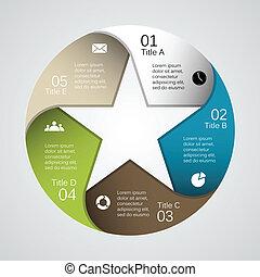 信息, 圖表, 事務, 現代, 項目, 矢量