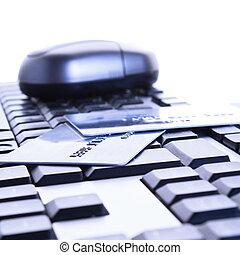 信用卡, 上, the, 鍵盤