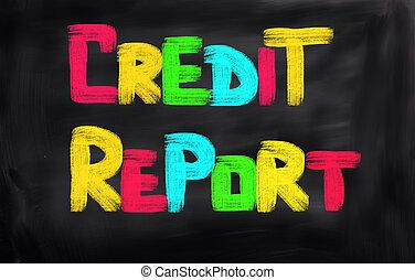 信用報告, 概念