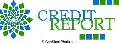 信用報告, 綠色的藍色, 元素