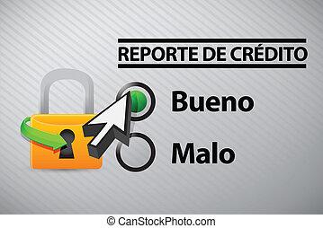 信用報告, 選擇, 在, 西班牙語