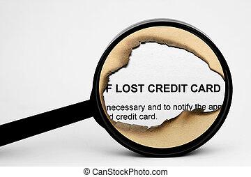 信用, 丟失, 卡片