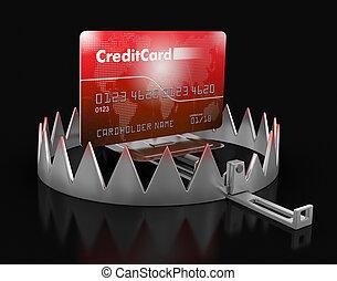 信用, 俘獲, 卡片