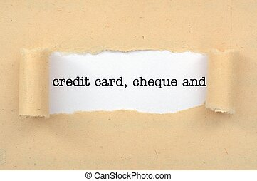 信用, 卡片, 支票