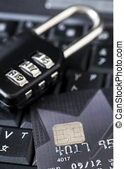 信用, 安全, 卡片, 網際網路