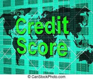 信用, 得分, 意味著, 借方卡片, 以及, bankcard