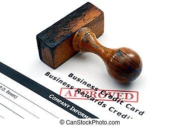 信用,  -, 批准, 卡片