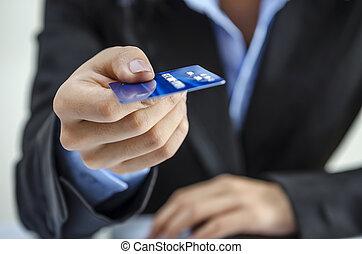 信用, 提供, 卡片