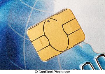 信用, 芯片, 卡片, 宏