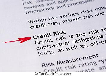 信用, 風險
