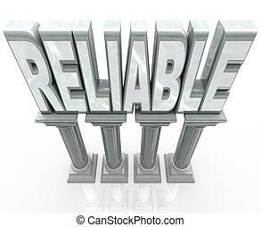 信頼できる, 信頼性が高い, 単語, コラム, 耐久性