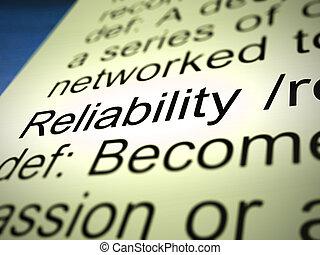 信頼性, 安定品質, アイコン, 信頼, -, 手段, 概念, 3d, イラスト, 確実性