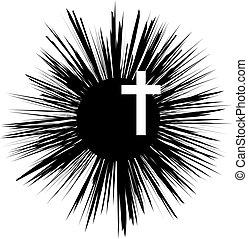信頼, キリスト教徒, religion., イラスト, cross., ベクトル