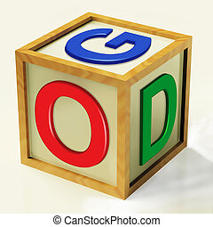 信頼, 信念, 神, 祈とう, ブロック, ショー