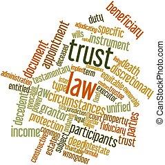 信頼, 法律