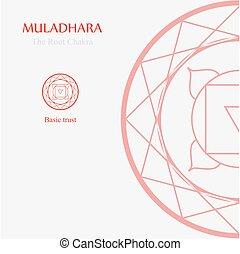 信頼, chakra, 基本, 根, 立つ, muladhara-