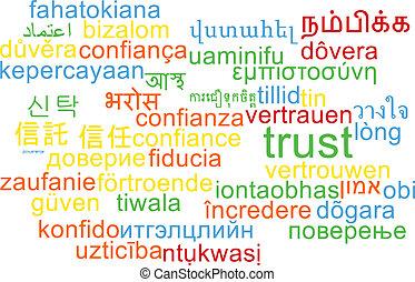信頼, wordcloud, 概念, multilanguage, 背景