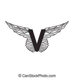 信, 動態, 雅致, 任何, 紋身, design., wings., 服務, 被隔离, 運動, 白色, 是, 使用, 運輸, 線性, 插圖, 背景, areas., 矢量, 罐頭, v, 或者