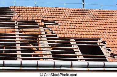 修復, 屋根