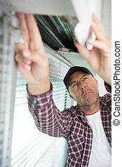 修理人, 固定, 窓
