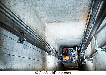 修理, シャフト, リフト, エレベーター, 機械工