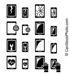修理, タブレット, smartphone
