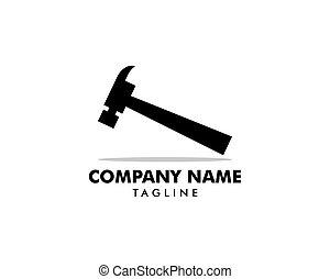 修理, ビジネス, 特性, ロゴ, 建設, 会社, 維持, 家, ハンマー