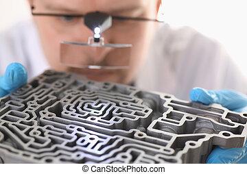 修理, 中心, 手掛かり, 手, car-care, 修理人