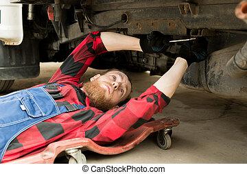 修理, 専門家, 機械工, 車