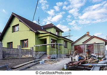 修理, 建設, 鄉村, 或者, 房子