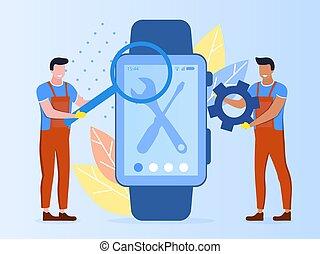 修理, 概念, smartwatch