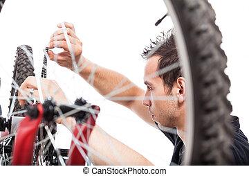修理, 自転車