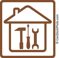 修理, 道具, 家, シンボル