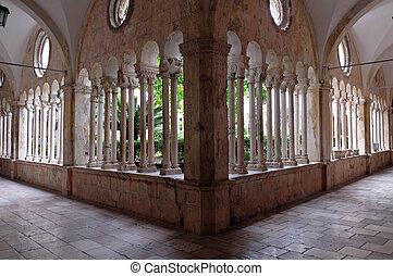 修道士, dubrovnik, franciscan, 修道院, croatia, 回廊, マイナー