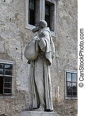 修道士, franciscan, 像