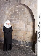 修道女, 古い, 若い, 教会