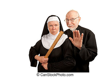 修道女, 面白い, 司祭
