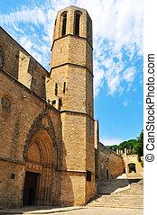 修道院, バルセロナ, pedralbes, スペイン, 教会