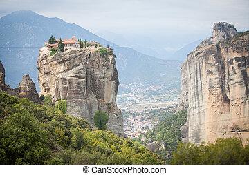 修道院, 中に, meteora, ギリシャ