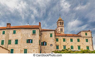修道院, 鐘, 建物, 歴史的, franciscan