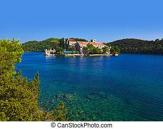 修道院, croatia, mljet, 島
