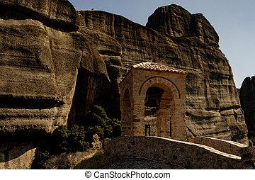修道院, greece., meteora