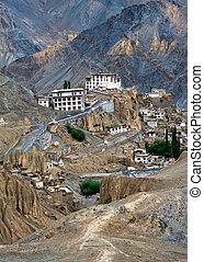 修道院, ladakh, lamayuru, インド, hymalaya.