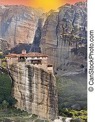 修道院, meteora, ギリシャ