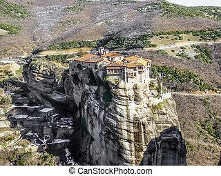 修道院, meteora, 三位一体, 神聖, ギリシャ