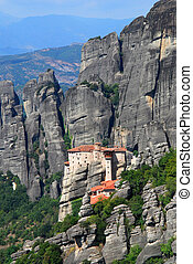 修道院, meteora, roussanou, ギリシャ