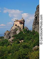 修道院, nicolaos, meteora, anapafsas, 打歩, ギリシャ
